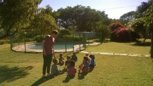 Zach from Trent Vineyard helps out at one of Encounter's Kids Clubs